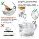 Marble Porcelain Teapot 22oz