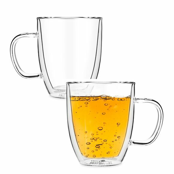 Sirius Double Wall Glass Mugs, Set of 2