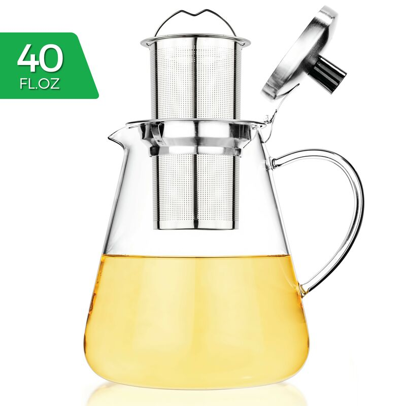 Juno Glass Teapot 40oz